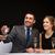 улыбаясь · официант · предлагающий · лоток · очки · шампанского - Сток-фото © dolgachov