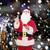 man · kostuum · kerstman · nacht · stad · christmas - stockfoto © dolgachov