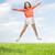 gelukkig · meisje · springen · hoog · buitenshuis · zomer - stockfoto © dolgachov