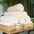 tekert · fehér · fürdőkád · törölközők · hotel · fürdő - stock fotó © dolgachov