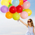 Kind · unter · Ballons · Träume · Reise · Hintergrund - stock foto © dolgachov