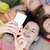 close up of students or friends with smartphones stock photo © dolgachov