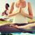 çift · yoga · meditasyon · plaj · uyum - stok fotoğraf © dolgachov