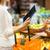 vrouw · voedsel · mand · markt · verkoop - stockfoto © dolgachov