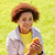feliz · africano · americano · adolescente · menina · internet · belo - foto stock © dolgachov