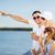 gelukkig · gezin · eten · ijs · zomer · vakantie · viering - stockfoto © dolgachov