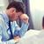 деловой · человек · депрессия · служба · рук · лице · работу - Сток-фото © dolgachov