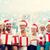 christmas · kinderen · hoeden · presenteert · tijd - stockfoto © dolgachov