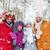 группа · улыбаясь · мужчин · женщины · зима · лес - Сток-фото © dolgachov