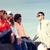 幸せ · 十代の · 友達 · 話し · 通り · 観光 - ストックフォト © dolgachov