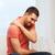 infeliz · homem · sofrimento · casa · pessoas - foto stock © dolgachov