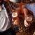 Männer · trinken · Bier · Brezeln · Veröffentlichung - stock foto © dolgachov