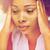アフリカ · 若い女性 · 触れる · 頭 · 人 - ストックフォト © dolgachov