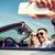 man · zonnebril · rijden · auto · smartphone · weg - stockfoto © dolgachov