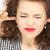 nieszczęśliwy · kobieta · palce · kłosie · zdjęcie · młodych - zdjęcia stock © dolgachov