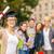 gelukkig · student · afstuderen · cap · boeken - stockfoto © dolgachov