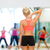 mulher · tocante · pescoço · fitness · saúde - foto stock © dolgachov