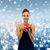 улыбающаяся · женщина · красный · шкатулке · праздников · представляет - Сток-фото © dolgachov