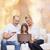 szülők · lány · laptop · hitelkártya · család · gyermek - stock fotó © dolgachov