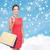 笑顔の女性 · ショッピングバッグ · プラスチック · カード · ショッピング · 販売 - ストックフォト © dolgachov