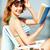 güneş · gözlüğü · kitap · şezlong · açık · kitap · yaz · tatili · kadın - stok fotoğraf © dolgachov