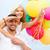 pár · színes · léggömbök · vízpart · nyár · ünnepek - stock fotó © dolgachov