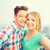 sorridente · casal · pessoas · amor · férias - foto stock © dolgachov