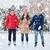 Coppia · inverno · divertimento · ghiaccio · pattini - foto d'archivio © dolgachov