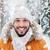 moço · sorridente · inverno · roupa · branco - foto stock © dolgachov