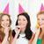 drie · glimlachend · vrouwen · hoeden · gunst - stockfoto © dolgachov