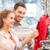 boldog · fiatal · pér · választ · ruházat · bevásárlóközpont · vásár - stock fotó © dolgachov