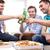 znajomych · piwa · pizza · domu · przyjaźni - zdjęcia stock © dolgachov