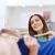 gelukkig · vrouw · kleding · kleding · store · spiegel - stockfoto © dolgachov