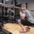 若い男 · 筋肉 · バー · ジム · スポーツ · フィットネス - ストックフォト © dolgachov