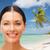 jonge · vrouw · zonnebrandcrème · zon · mooie · vorm · zee - stockfoto © dolgachov