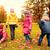 enfants · laisse · automne · parc · enfance - photo stock © dolgachov