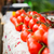 close up of ripe red tomatoes at street market stock photo © dolgachov