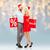 feliz · casal · vermelho - foto stock © dolgachov