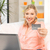 happy woman with laptop computer and credit card stock photo © dolgachov