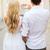 romantikus · pár · város · készít · szív · alak · nyár - stock fotó © dolgachov