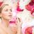 красивая · женщина · косметики · здоровья · красоту · розовый · цветы - Сток-фото © dolgachov