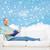 smiling man with book lying on sofa stock photo © dolgachov
