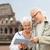 couple · de · personnes · âgées · sacs · isolé · blanche · femme · famille - photo stock © dolgachov