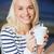 genç · kadın · içme · kahve · kafe · sığ - stok fotoğraf © dolgachov
