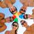 sonriendo · amigos · círculo · verano · playa · amistad - foto stock © dolgachov