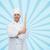 uśmiechnięty · kucharz · wałkiem · kuchnia · ręce - zdjęcia stock © dolgachov