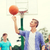 srácok · játszik · kosárlabda · fiatal · kosárlabdázó · ellenfél - stock fotó © dolgachov