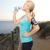fitness · runner · donna · ascoltare · musica · spiaggia · ritratto - foto d'archivio © dolgachov