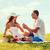 улыбаясь · пару · небольшой · красный · шкатулке · пикника - Сток-фото © dolgachov