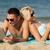 feliz · casal · óculos · de · sol · praia · quadro · mulher - foto stock © dolgachov